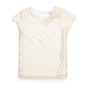 NWT! Crown & Ivy Short Sleeve Lace Top